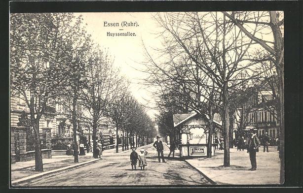 AK Essen-Ruhr, Blick in die Huyssenallee