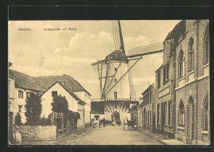 AK Xanten, Brückstrasse mit Mühle