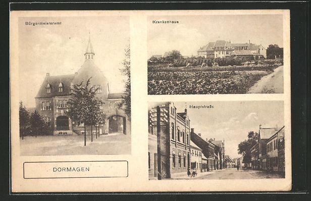 AK Dormagen, Bürgermeisteramt, Hauptstrasse, Krankenhaus