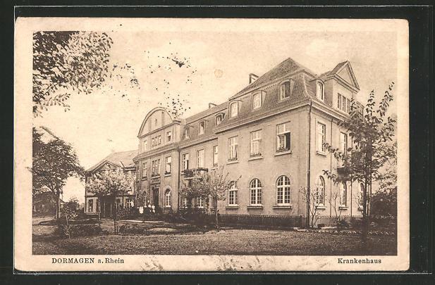 AK Dormagen / Rhein, Partie am Krankenhaus