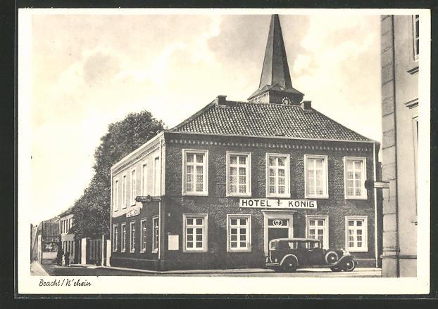 AK Bracht / Niederrhein, Partie am Hotel König