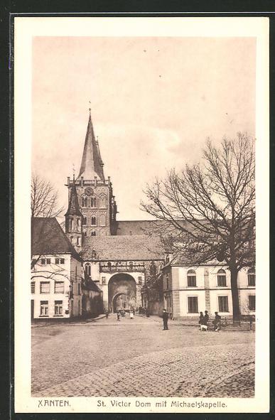 AK Xanten, St. Victor Dom mit Michaelskapelle