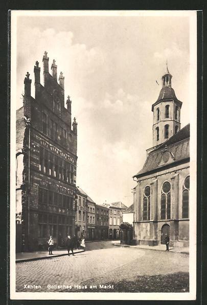 AK Xanten, Gotisches Haus am Markt