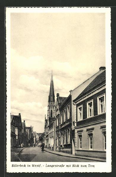 AK Billerbeck, Langestrasse mit Blick zum Dom