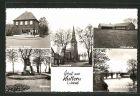 AK Hullern, Feinkost Th. Bücker, Kath. Pfarrkirche, Volksschule, Ehrenmal, Partie a. d. Stever
