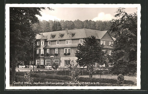 AK Jagdhaus, Blick zum Gasthaus Wiese