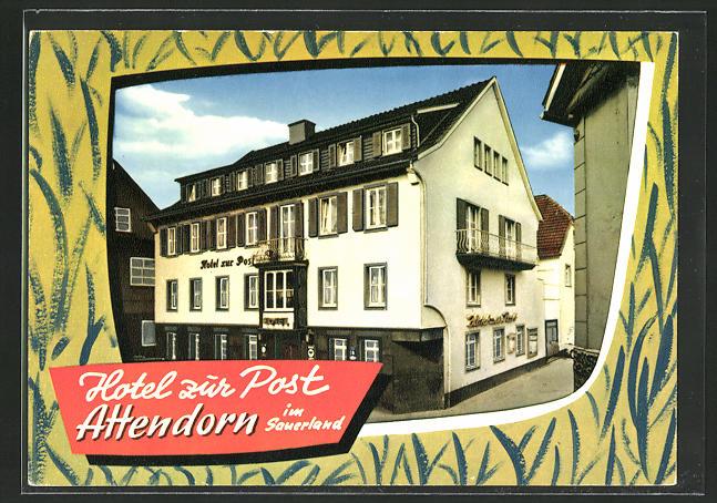 AK Attendorn / Sauerland, Hotel zur Post