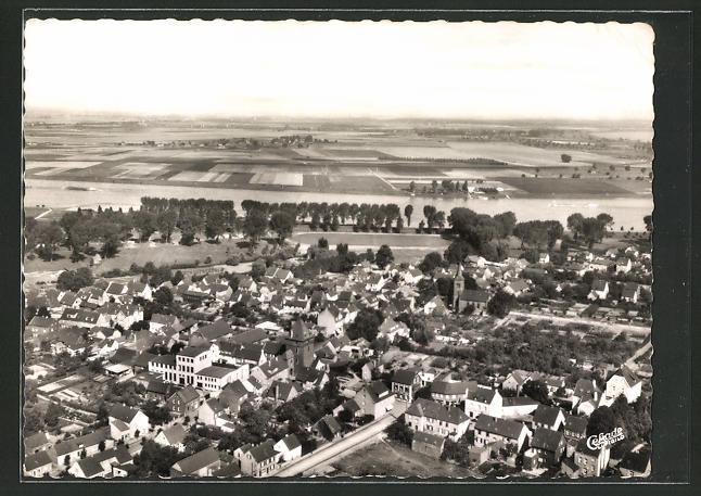 AK Monheim / Rhein, Ortsansicht vom Flugzeug aus