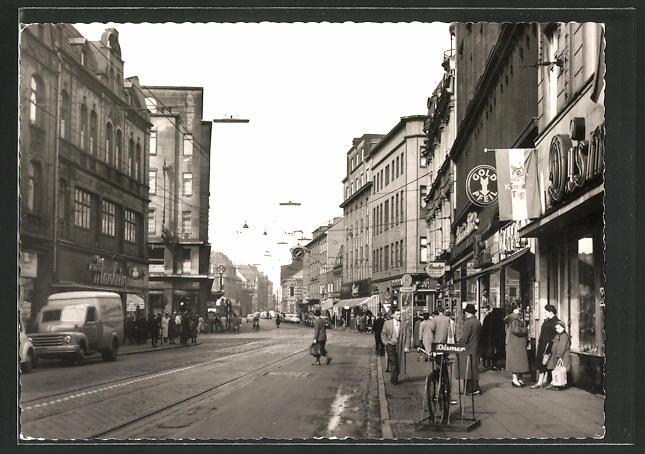 AK Duisburg-Hamborn, Partie in der Kaiser Wilhelm-Strasse