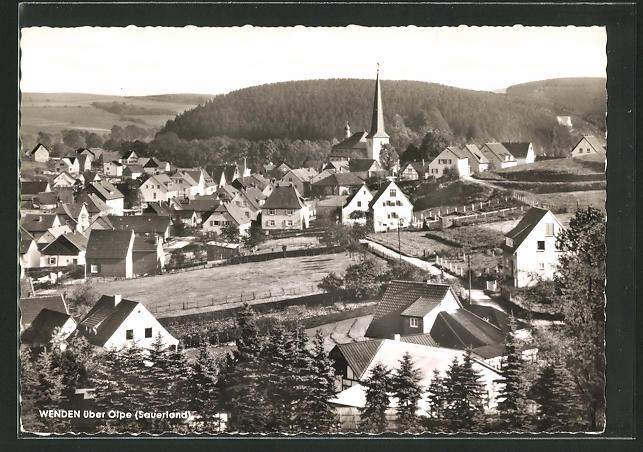 AK Wenden / Olpe, Ortsansicht mit Kirche