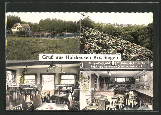 AK Holzhausen / Siegen, Waldhaus-Café