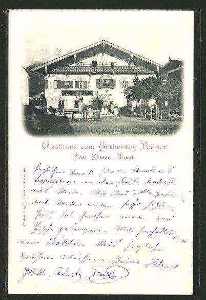 AK Kössen, Gasthaus zum Erzherzog Rainer