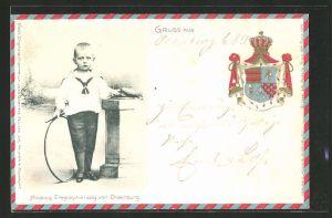 Präge-AK Nicolaus Erbgrossherzog von Oldenburg, Wappen derer von Oldenburg