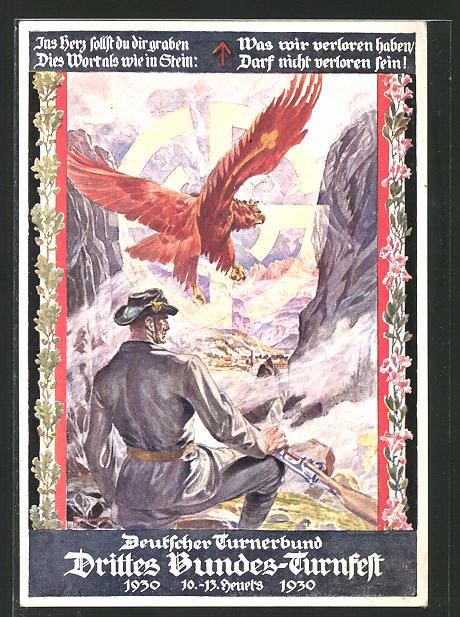 Künstler-AK Innsbruck, 3. Bundesturnfest 1930, Österreichischer Soldat