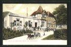 AK Littenweiler, Gasthaus z. Hirschen von F. Ruh mit Pferdekutsche