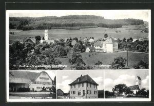 AK Obereisenbach, Kirche, Handlung v. X. Mesmer, Gasthaus zum Hirsch