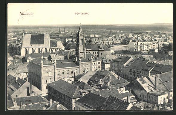 AK Kamen, Panorama aus der Vogelschau
