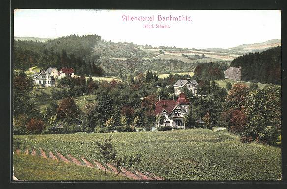 AK Barthmühle, Blick auf das Villenviertel