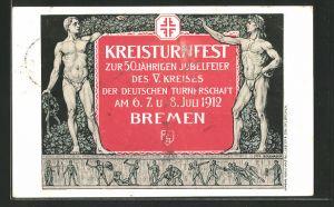 AK Bremen, Kreisturnfest zur 50 jährigen Jubelfeier des V. Kreises der Deutschen Turnerschaft 1912