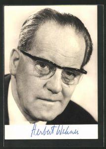 AK Portrait Herbert Wehner, MdB, Stellvertretender Vorsitzender der SPD