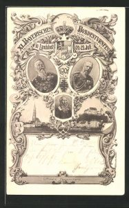 AK Landshut, XI. Bayerisches Bundesturnfest 1901, Prinz Ludwig v. Bayern, Ganzsache Bayern PP15 C41 /01
