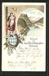 Lithographie Verband des bayer. Post- & Telegraphen-Personals