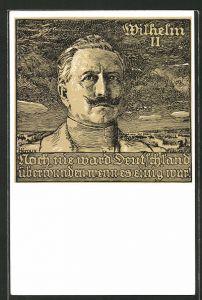 Künstler-AK Bruno Heroux: Kaiser Wilhelm II.