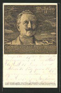 Künstler-AK Bruno Heroux: Kaiser Wilhelm II.,