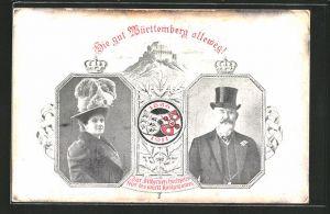 AK Silberne Hochzeits-Feier des Württembergischen Königspaares am 8. April 1911, Ganzsache 3 Pfg.