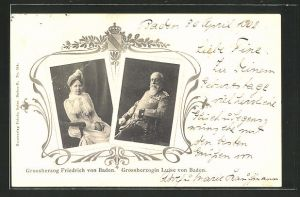 AK Grossherzog Friedrich von Baden und Grossherzogin Luise