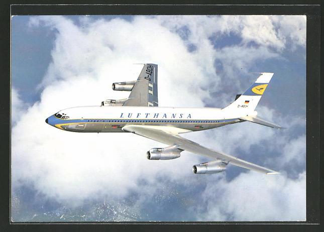 AK Boeing Jet 720 B der Lufthansa
