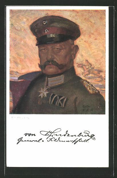 AK Portrait von Paul von Hindenburg