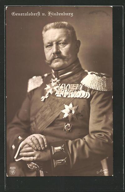 AK Generaloberst Paul von Hindenburg in Uniform