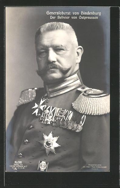 AK Portrait vom Generaloberst Paul von Hindenburg