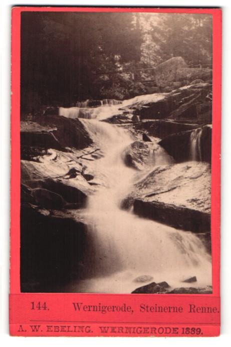 Fotografie A. W. Ebeling, Wernigerode, Ansicht Wernigerode, Steinerne Renne
