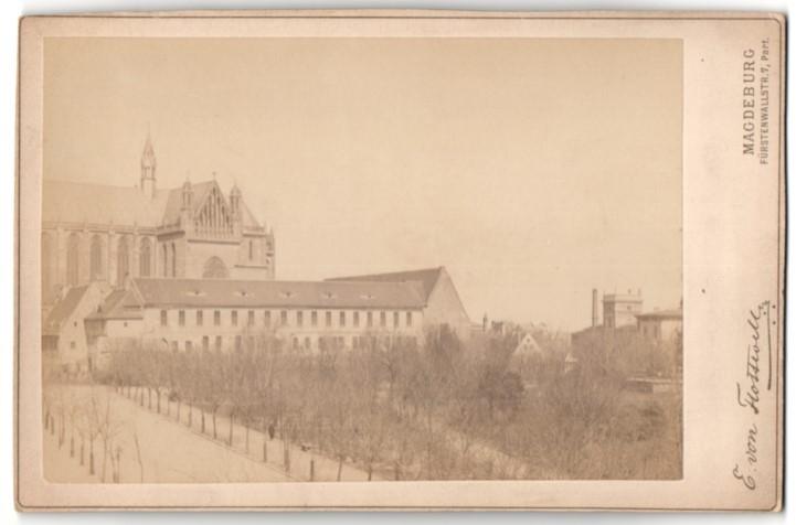Fotografie E. von Flottwell, Magdeburg, Ansicht Magdeburg, Blick zum Dom