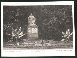 Fotografie Fotograf unbekannt, Ansicht Wien, Partie am Schubert-Denkmal