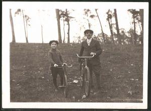 Fotografie Vater & Sohn mit Mifa - Fahrrad