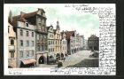 AK Hirschberg, Gasthof zum goldenen Schwert in den Marktlauben