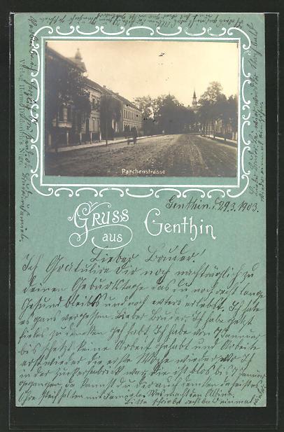 AK Genthin, Blick in die Parchenstrasse