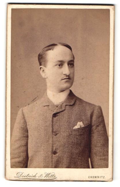 Fotografie Dietrich & Witte, Chemnitz, Eleganter junger Mann im Anzug