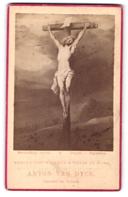 Fotografie Miethke & Wawrain, Wien, Gemälde von Anton van Dyck, Christus im Kreuze