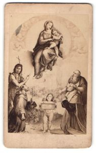 Fotografie Photograph. Gesellschaft, Berlin, Gemälde von Raphael, Madonna di Foligno
