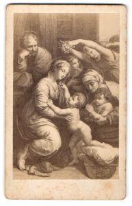 Fotografie Gemälde von Raphael, Die heilige Familie