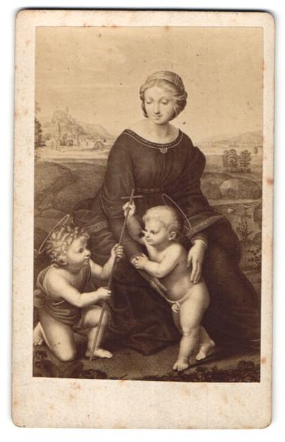 Fotografie Gemälde von Rafael, Madonna im Grünen