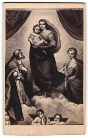 Fotografie Gemälde von Raphael, Madonna Sixtina