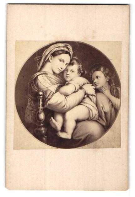 Fotografie Hanfstaengl, Dresde, Munich, Paris, Gemälde von Raphael, Madonna della Sedia