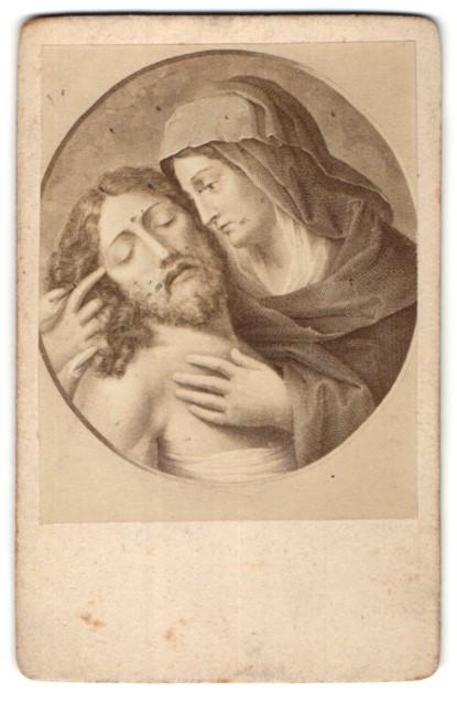 Fotografie Gemälde von unbek. Künstler, Jesus und Maria