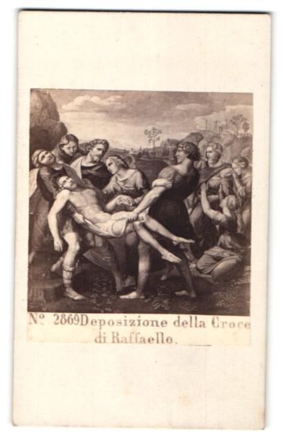 Fotografie Sommer & Behles, Naples, Rome, Gemälde von Raffael, Christus wird zu Grabe getragen