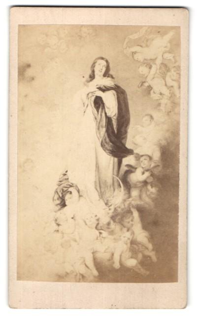 Fotografie J. Valette, Paris, Gemälde von unbek. Künstler, Maria